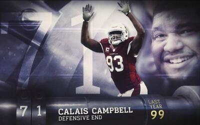 Top 100 Jugadores del 2016: (Lugar 71) DE Calais Campbell