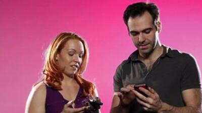 Couples Swap Phones Slider