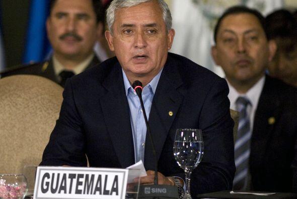 El presidente de Guatemala, Otto Pérez Molina ocupa el quinto lugar en e...