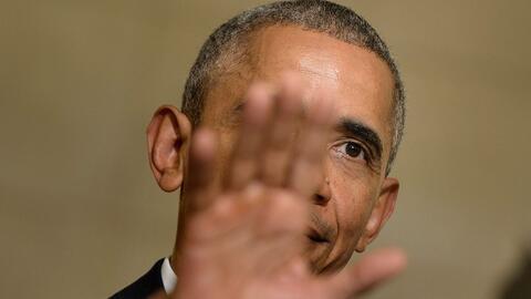 El presidente estadounidense, Barack Obama, en una conferencia de prensa...