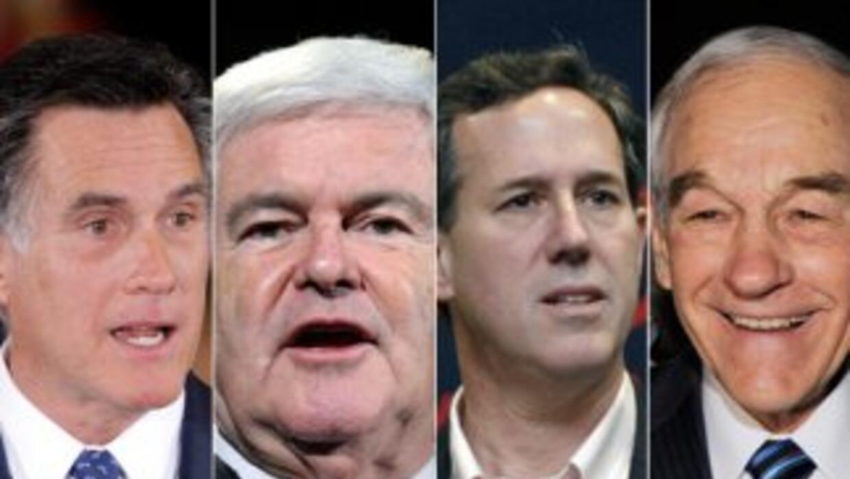 Los candidatos republicanos al momento