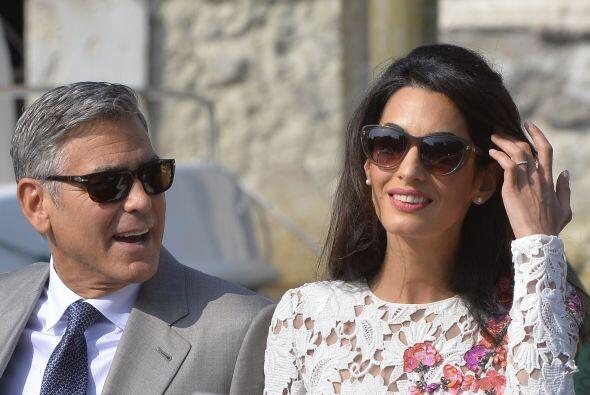El segundo lugar se lo llevó la boda de George Clooney y Amal Ala...