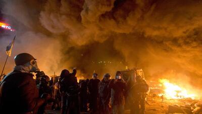 Ucrania arde durante protestas contra el gobierno