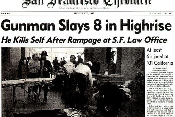 2 julio de 1993. Un hombre armado llamado Gian Luigi Ferri mata en San F...