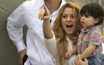 Shakira y Milan llegaron a Colombia