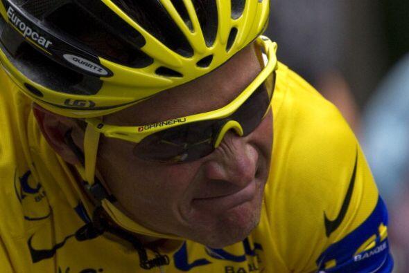 El rostro de Thomas Voeckler, líder del Tour, es una muestra del...