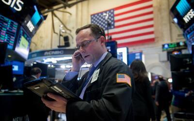 Un inversor en la bolsa de Nueva York.