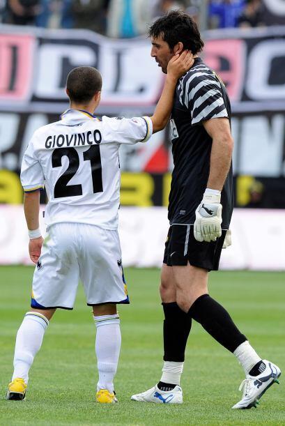 Buffón estaba evidentemente molesto por la derrota de la 'Juve'.