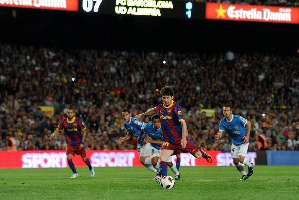 El encargado de patear fue Messi que no mostró nervios.