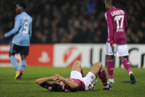 No hubo goles en este partido y el Lyon se tambalea en la 'Champions'.
