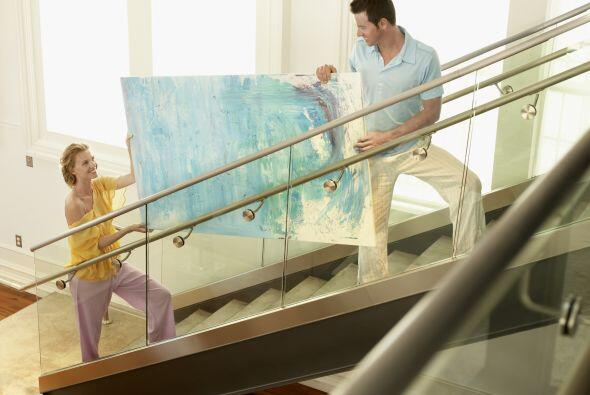 Imaginación. Hay infinitas opciones para decorar la escalera. En algunos...