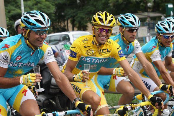 Pero esta vez, toda la atención fue para Alberto Contador, el fla...