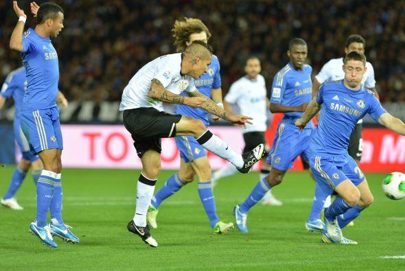 Corinthians hizo dos remates a portería y metió un gol, mientras que Che...
