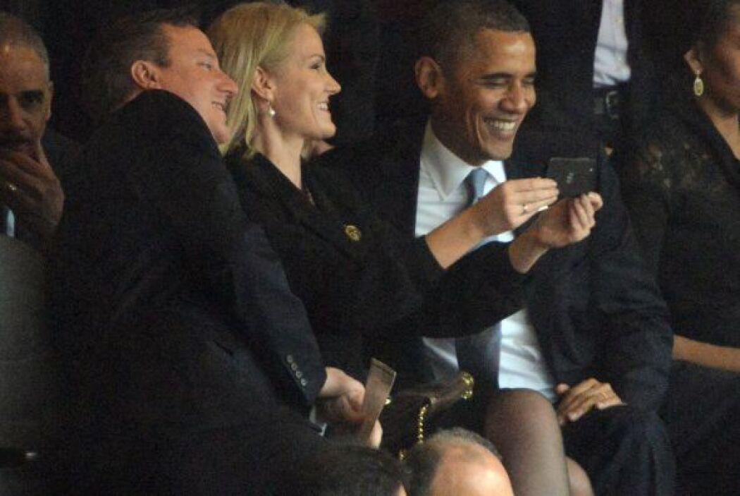 Una pose del presidente de Estados Unidos, el primer ministro británico...