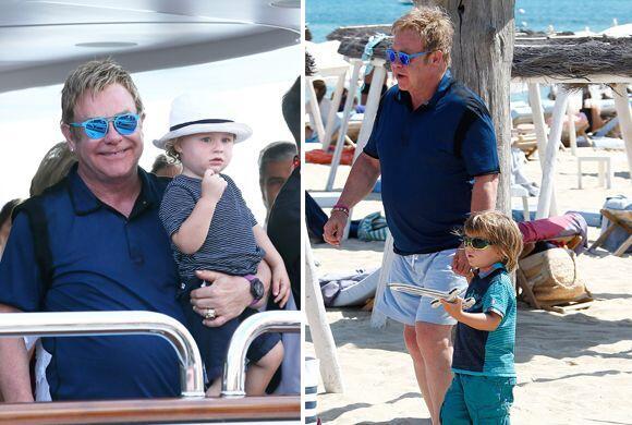 Elton John disfrutó con sus hijos y pareja de un tiempo bien merecido an...
