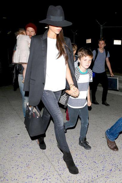 Podemos ver cómo han crecido los pequeños Beckham.M&aacute...