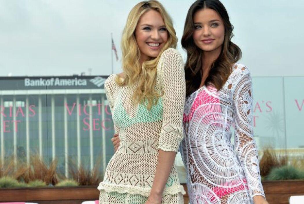 Miranda Kerr y Candice Swanepoel en nuevos bikinis de Victoria's Secret...