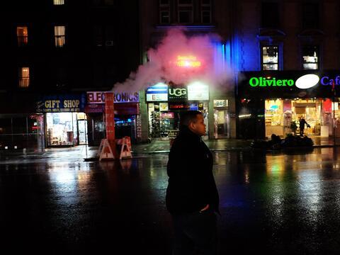 El lado romántico de NY con lluvia