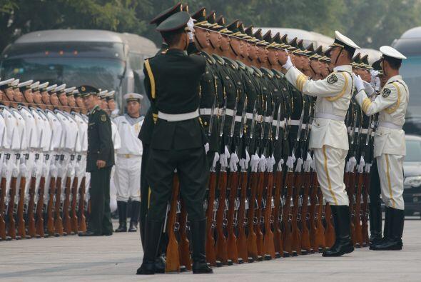 ¿Qué tal estos guardias de honor con su apariencia casi de película? Muc...