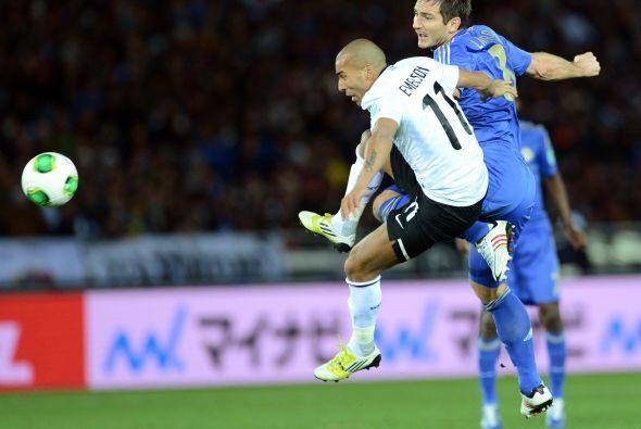 Frank Lampard fue la novedad en la alineación del técnico Rafael Benítez...