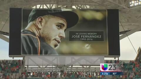 Un minuto de silencio en memoria de José Fernández