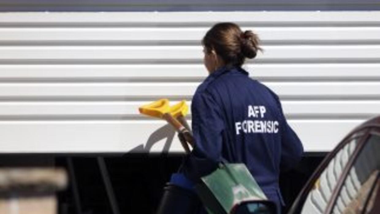 La policía investiga casas del suburbio de Gildford, Sídney, en busca de...