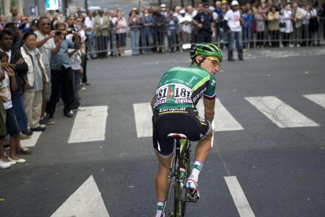 El francés Thomas Voeckler de Europcar, quedó en cuarto lugar, el local...
