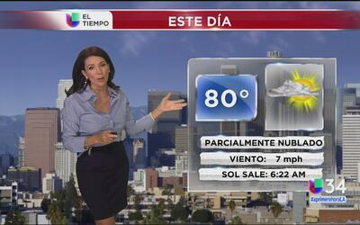 Los Ángeles tendrá un jueves con cielos parcialmente nublados