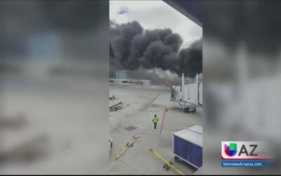 Video capta el terror que se vivió tras accidente aéreo en Tucson