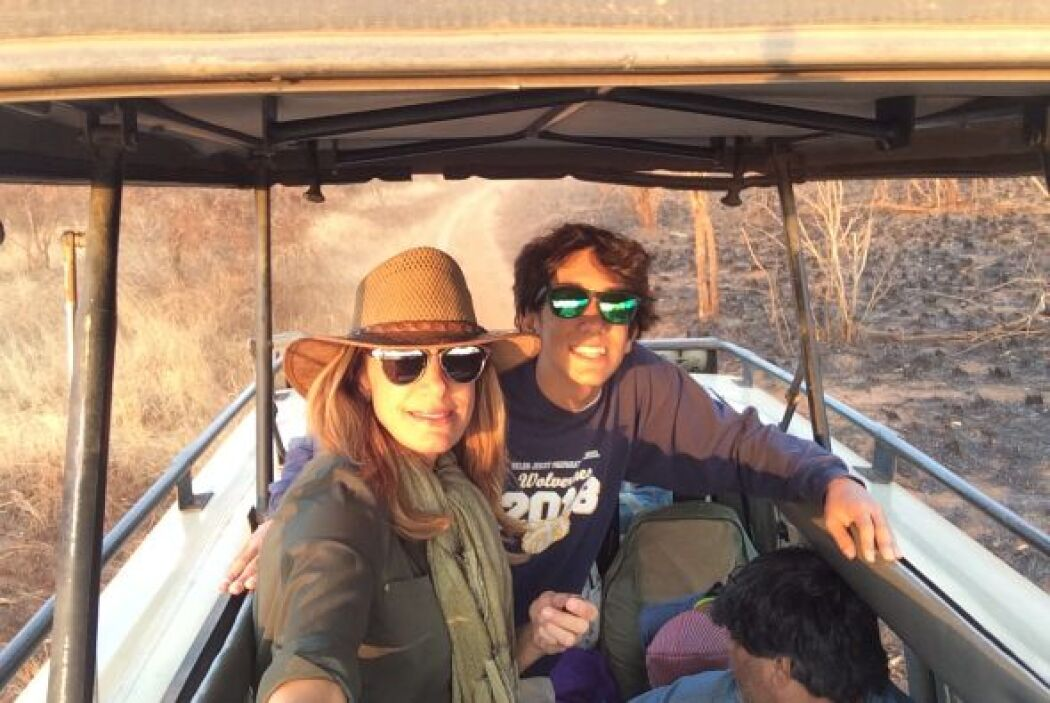 Con su hijo Lorenzo.