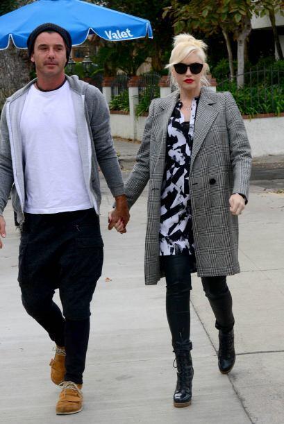 Gwen Stefani y su marido Gavin Rossdale  tampoco quisieron quedarse otra...