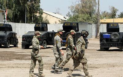 Instructores del Ejército de EEUU en Irak