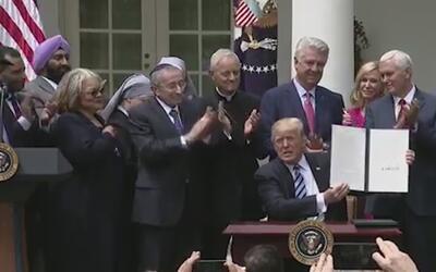 Orden ejecutiva de Donald Trump abre la puerta al proselitismo en iglesias