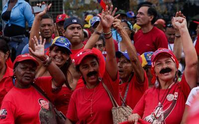 Chavistas en una manifestación de apoyo a Nicolás Maduro