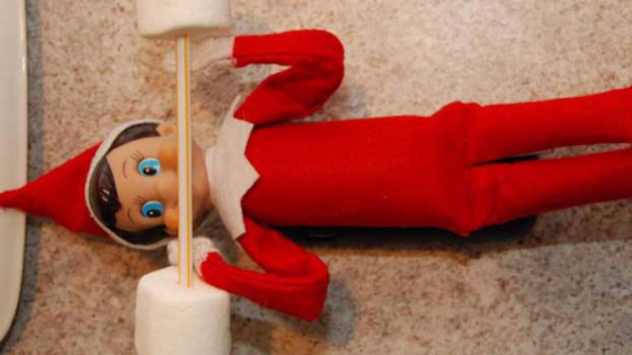 Elf on the Shelf mischief by @HuffPost