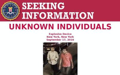 FBI busca a dos personas de interés por explosivo en Manhattan