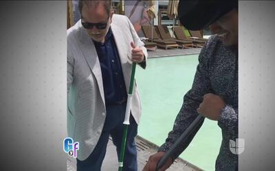 Raúl le enseñó a Julión Álvarez a trapear