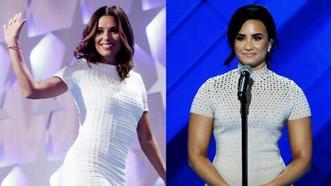 Eva Longoria y Demi Lovato mostraron su apoyo a Hillary Clinton