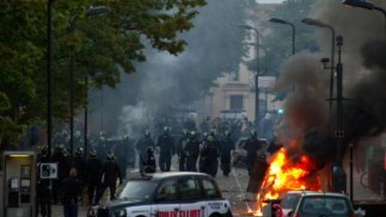 Los disturbios, que sacuden la capital desde el pasado sábado, se han ex...