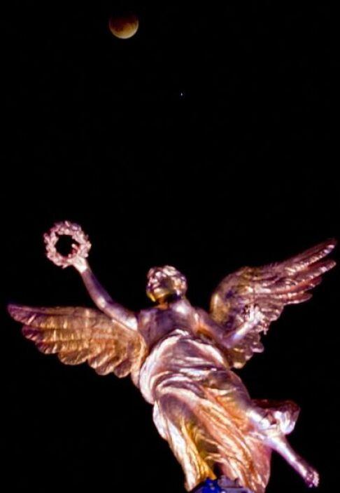 El monumento al Ángel de la Independencia en la ciudad de México.