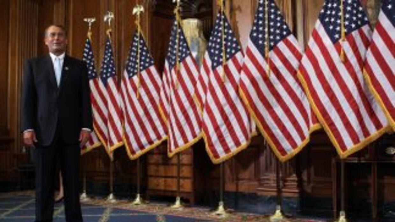 El legislador republicano John Boehner, uno de los impulsores de la ley...