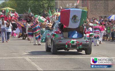 Celebración de la independencia de México en Cicero