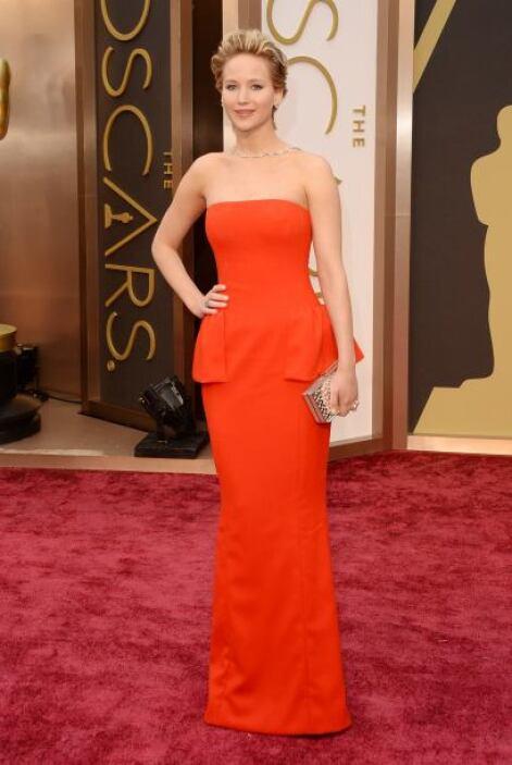 Jennifer Lawrence fue considerada como una de las mejores vestidas graci...