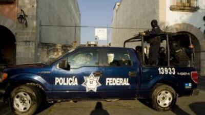 Policía federal en Michoacán.