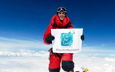 A Mexican scales Everest for the sixth time to raise awareness about dep...