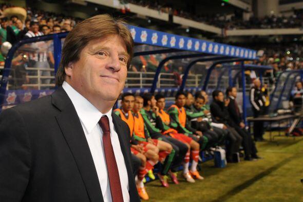 El 'Piojo' Herrera se mostró relajado y contento durante los minu...