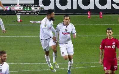 Goooolll!! Alejandro Bedoya mete el balón y marca para Philadelphia Union