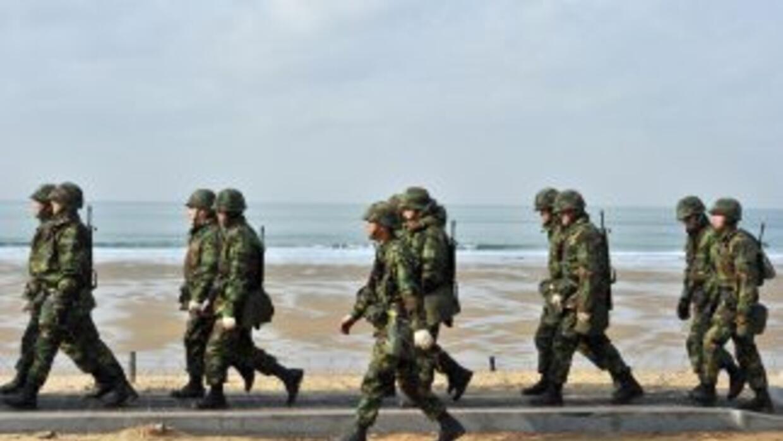 Soldados de Corea del Sur realizaron maniobras junto a sus pares de EU.