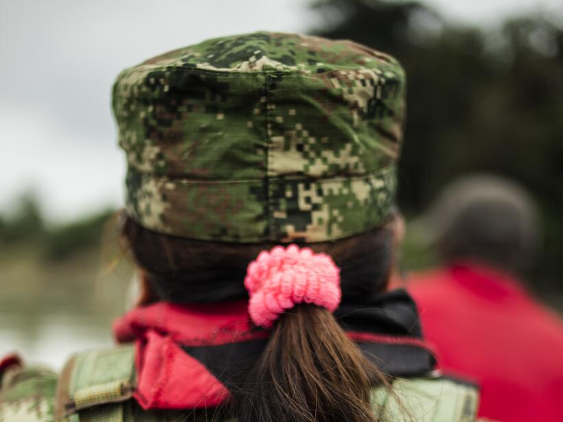 Around half of the ELN fighters are women.