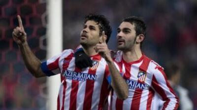 Ante la ausencia de Falcao, Diego Costa se levantó como el líder de los...